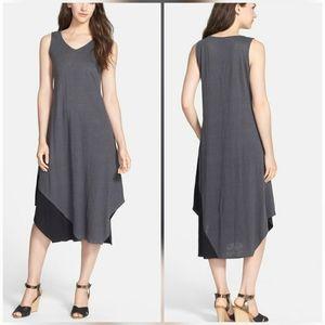 Eileen Fisher Colorblock Organic Linen Dress